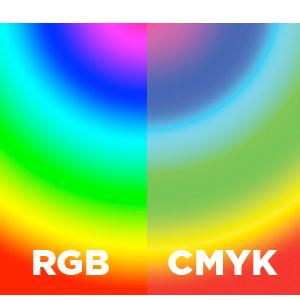 cmyk versus rgb colours
